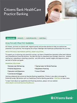 Citizens HealthCare Practice Banking