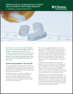 APPLYING DIGITAL TECHNOLOGIES TO PROFIT FROM CHANGE IN THE PHARMA INDUSTRY